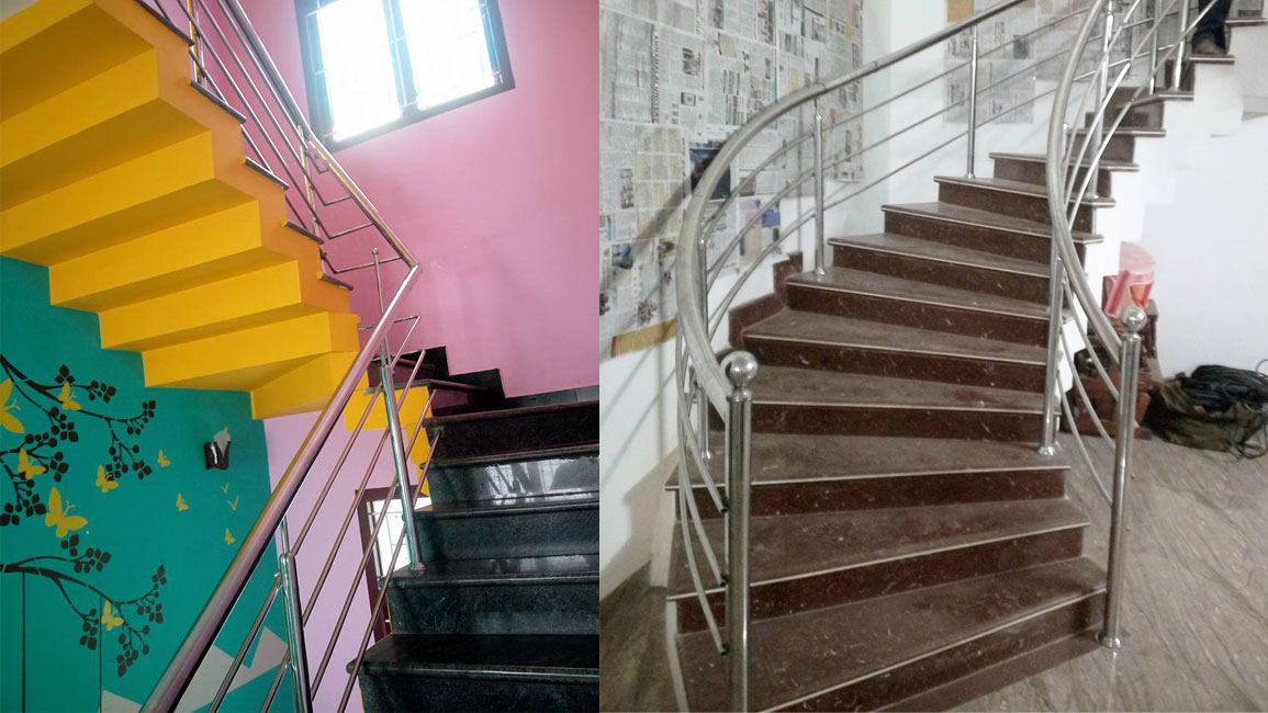 ss staircase designs in coimbatore